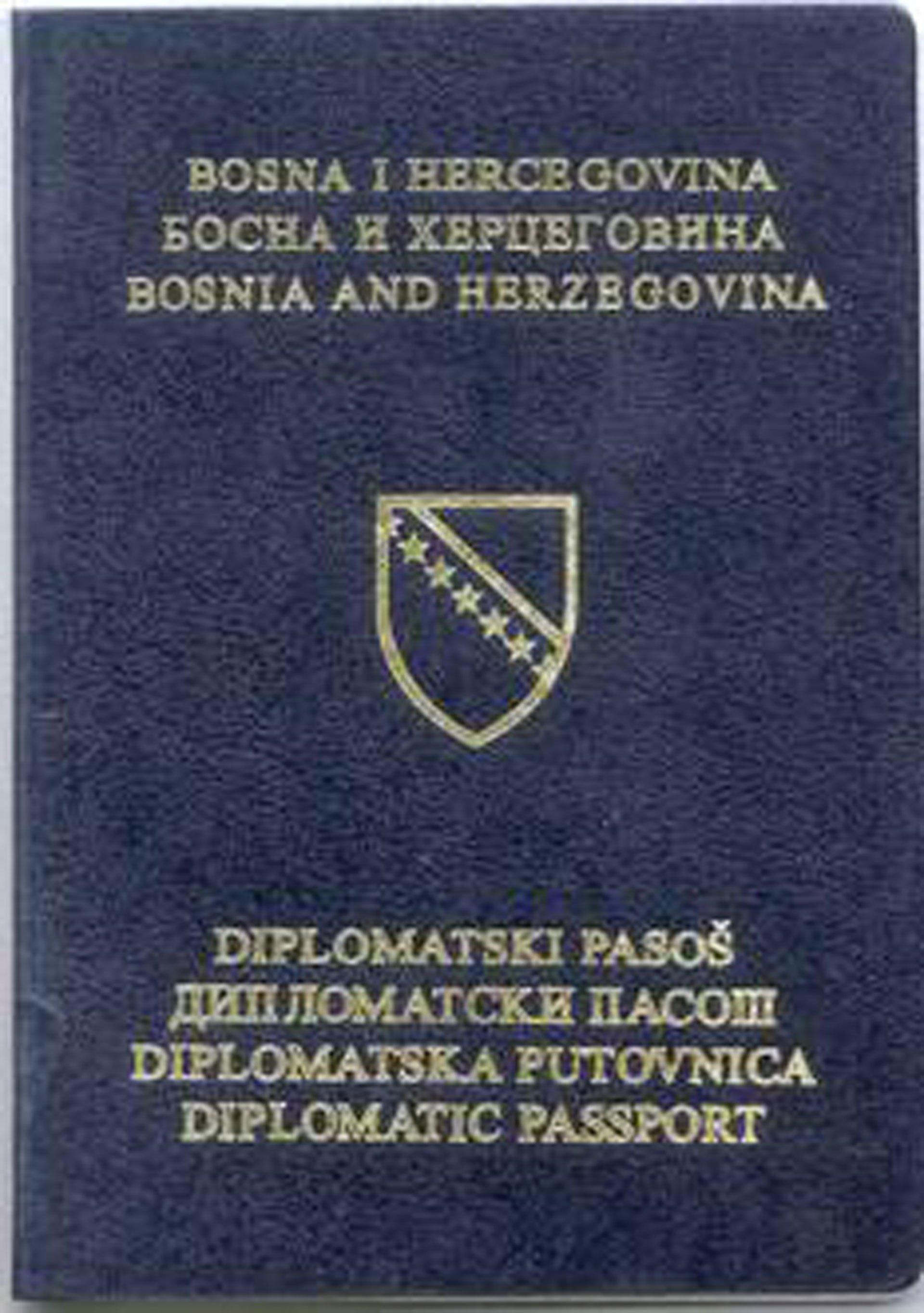 Diplomatski pasoš u BiH