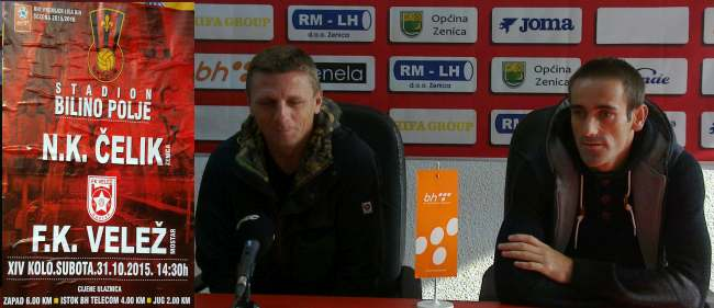 Trener Elvedin Beganović i Vernes Selimović na pressu