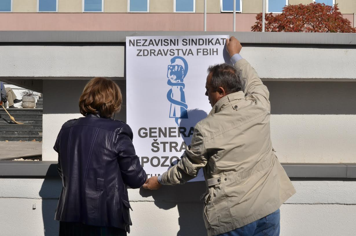 Štrajk upozorenja zdravstvenih radnika