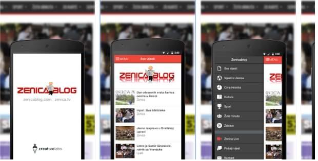 Zenicablog aplikacija za IOS i Android
