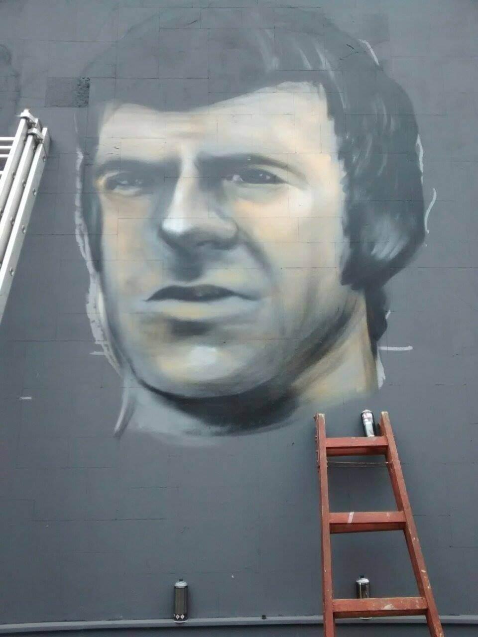 Za Čelik mural - Fadil Talić