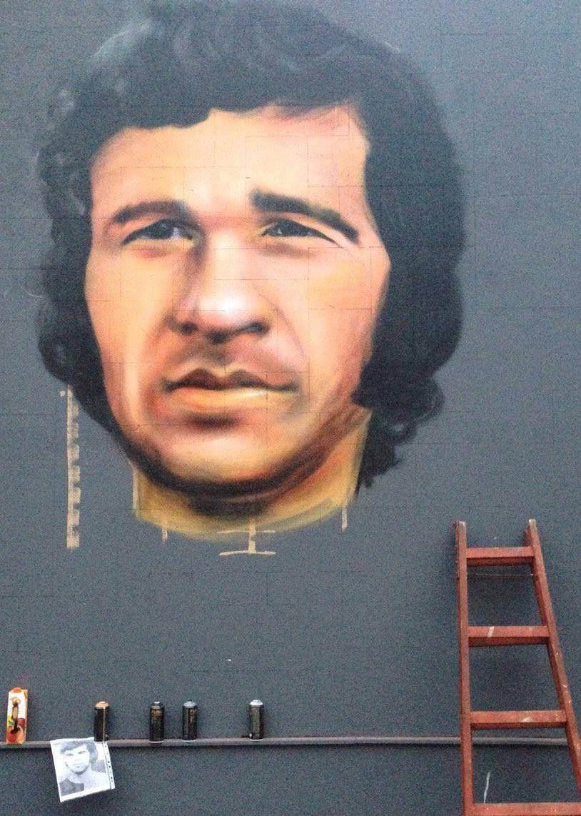 Za Čelik mural - Jasmin Hajduk