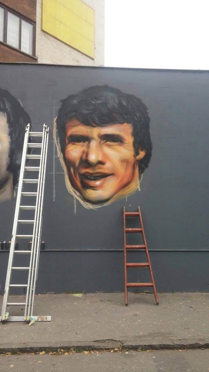 Za Čelik mural - Mehmed Buza