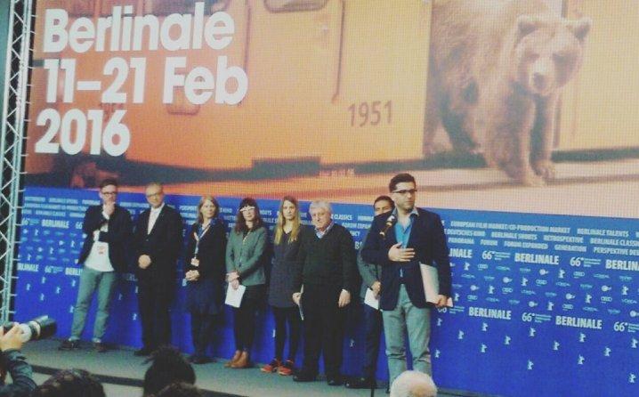 Danis Tanović u Berlinu prilikom preuzimanja nagrade