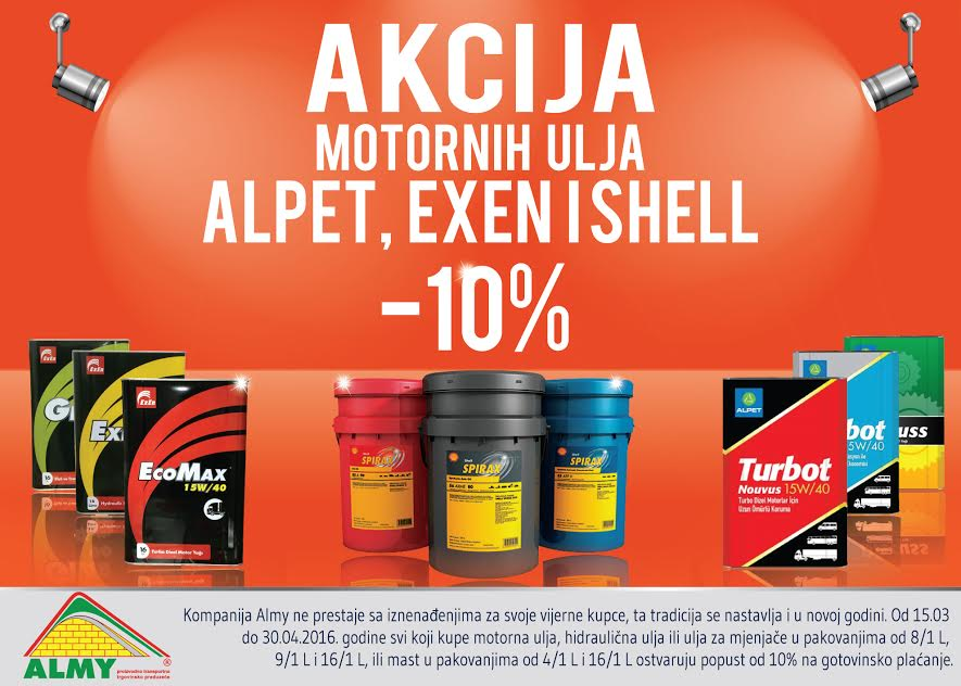 Akcija Shell i Alpet ulja i maziva