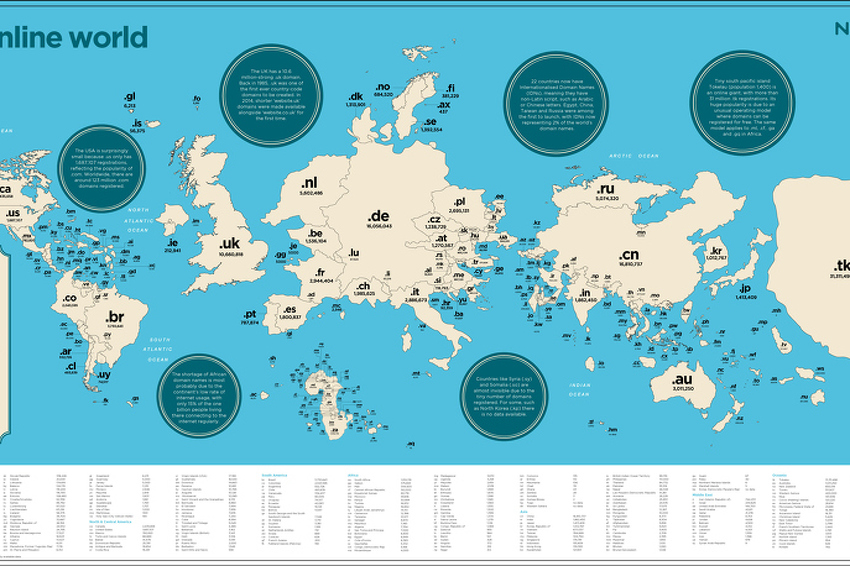 Začuđujuća karta interneta