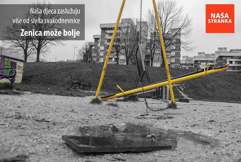 Naša stranka Zenica predala 1500 potpisa za izgradnju i obnovu dječijih igrališta