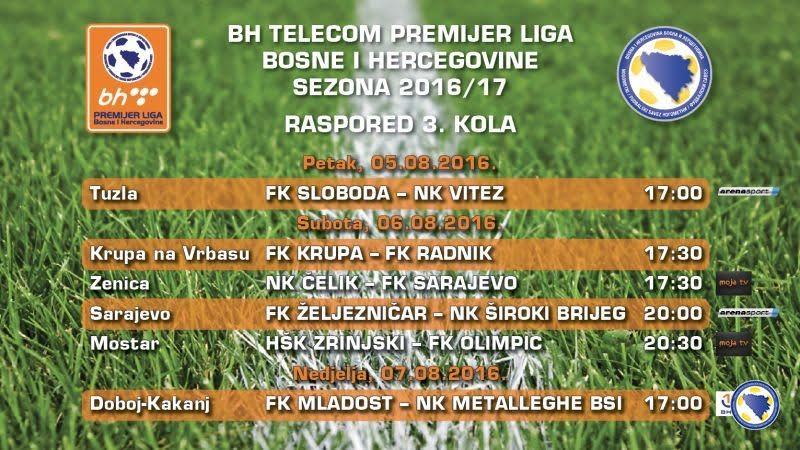 Najava 3.kola BHT Premijer nogometne lige BiH