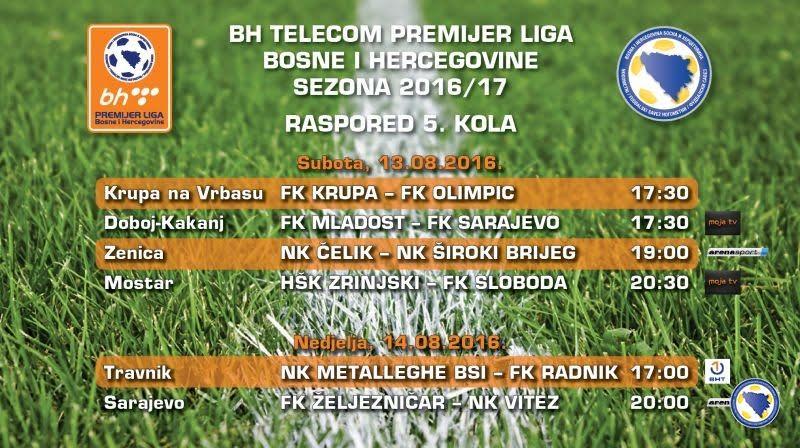 Najava 5.kola BHT Premijer nogometne lige BiH