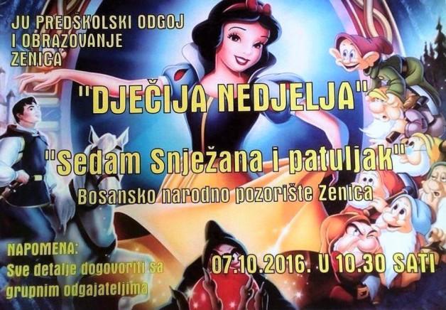 Premijera predstave ''Snježana i sedam patuljaka'' u BNP-u