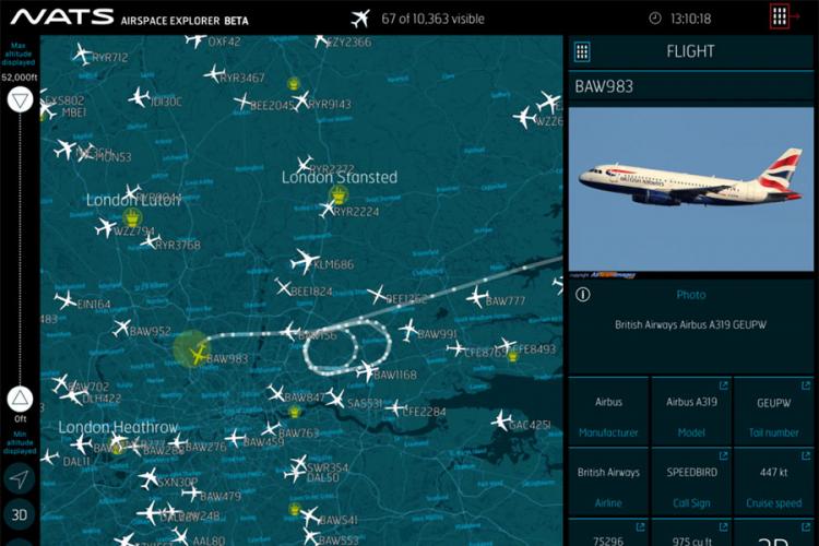 Pratite sve avione na nebu u realnom vremenu