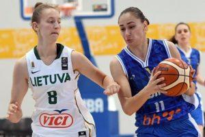 Nedžla Kovačević na utakmici protiv Litvanije