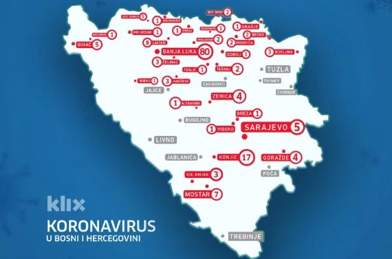 Image result for u 29 gradova u bih koronavirus