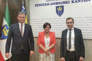 Ambasadorica Francuske u BiH nj e Kristina Tudik boravila u službenoj posjeti Zeničko-dobojskom kantonu